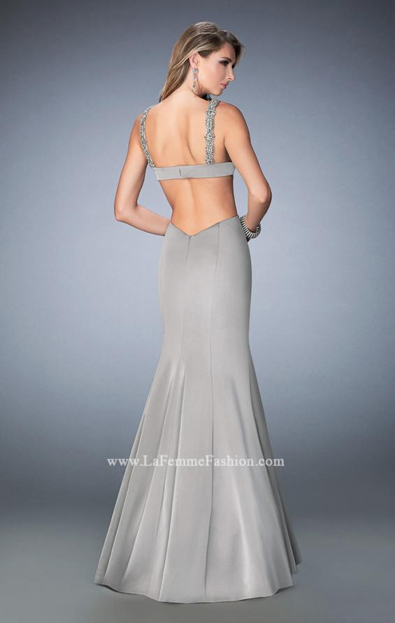 Picture of: Open Back Mermaid Prom Dress with Beaded Straps, Style: 22631, Back Picture