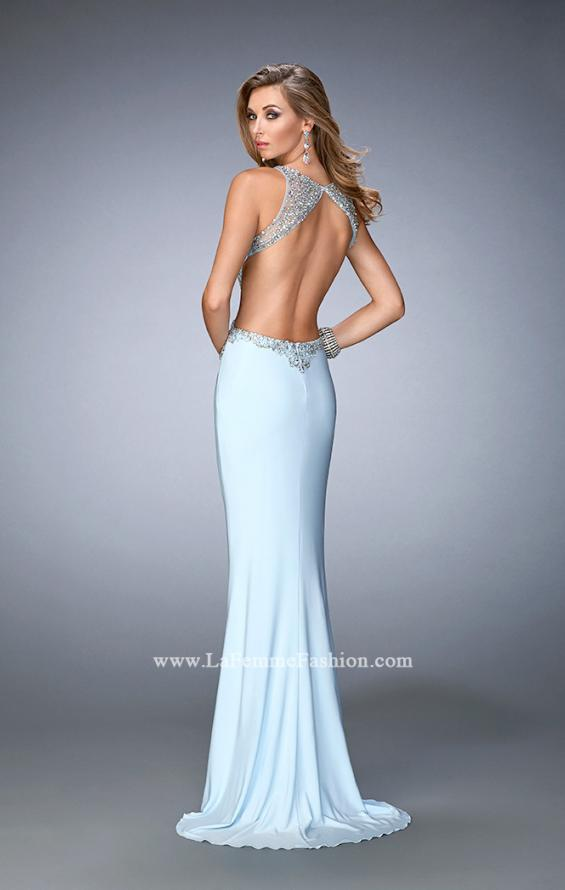 Picture of: Embellished Jersey Gown with Side Cut Outs, Style: 22642, Back Picture