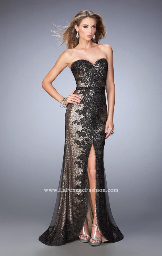Picture of: Long Prom Dress with Sequin Lace Pattern, Style: 22680, Main Picture