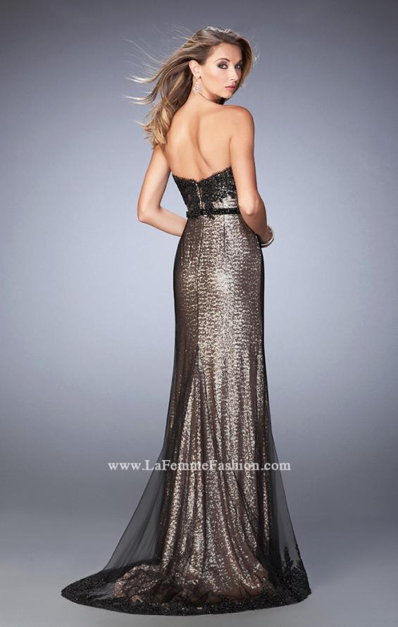 Picture of: Long Prom Dress with Sequin Lace Pattern, Style: 22680, Back Picture