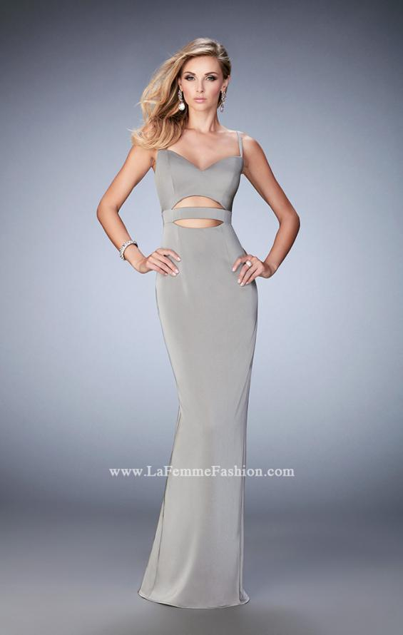 Picture of: Prom Gown with Cut Outs and Back Slit, Style: 22689, Main Picture