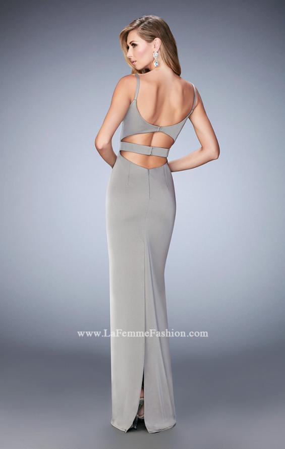 Picture of: Prom Gown with Cut Outs and Back Slit, Style: 22689, Back Picture