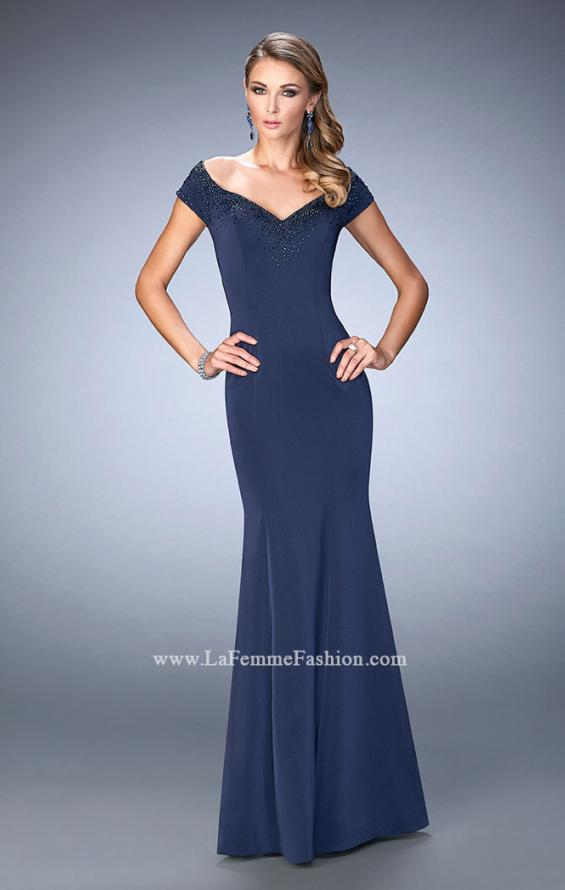 Picture of: Off the Shoulder Prom Dress with Beaded Neckline, Style: 22716, Main Picture