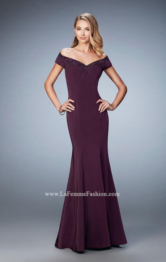 Picture of: Off the Shoulder Prom Dress with Beaded Neckline, Style: 22716, Detail Picture 1