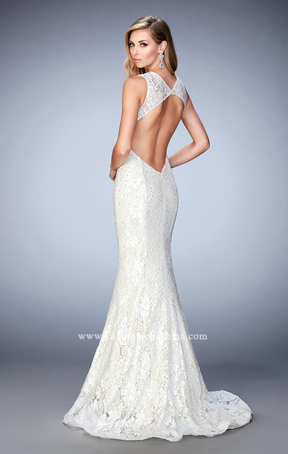 Picture of: Lace Mermaid Prom Gown with Shimmer Lining, Style: 22768, Back Picture