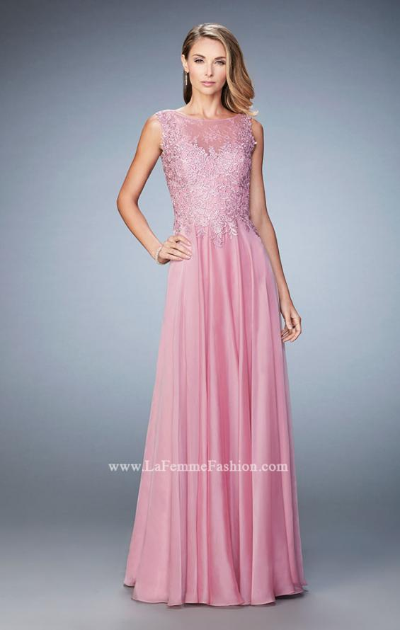 Picture of: Lace Illusion Prom Dress with Embroidered Bodice, Style: 22783, Detail Picture 1