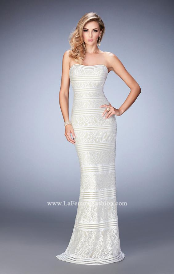 Picture of: Strapless Lace Dress with Gold Shimmer Lining, Style: 22841, Main Picture