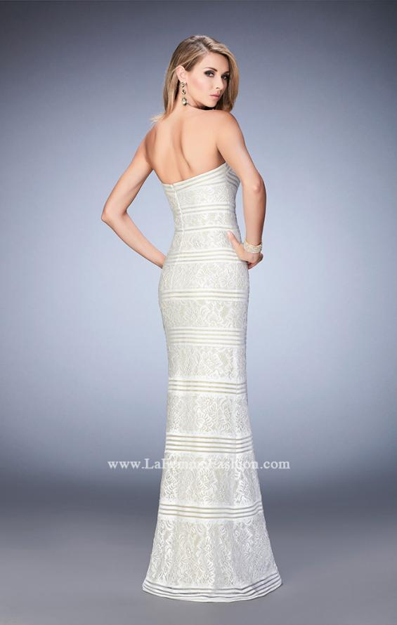 Picture of: Strapless Lace Dress with Gold Shimmer Lining, Style: 22841, Back Picture