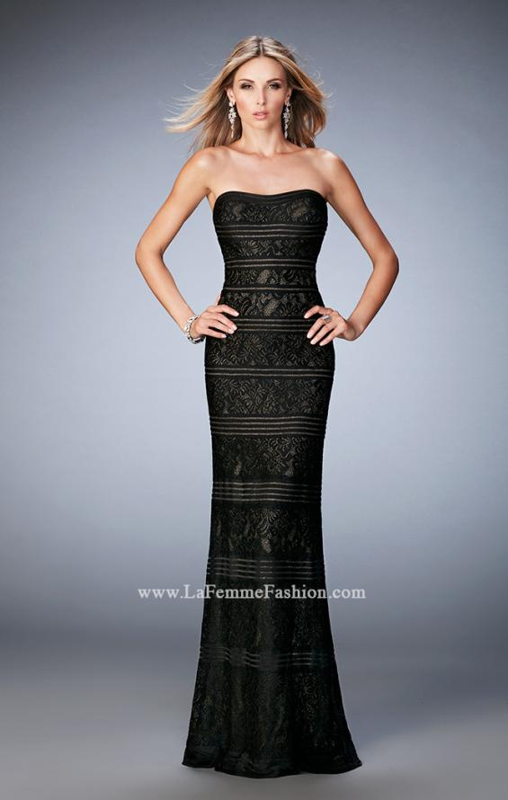 Picture of: Strapless Lace Dress with Gold Shimmer Lining, Style: 22841, Detail Picture 1