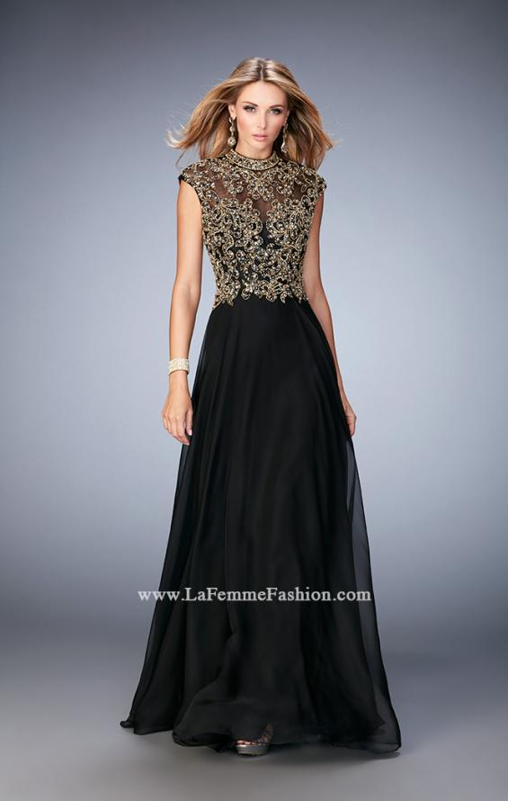Picture of: Long Prom Dress with Embellished Waistband, Style: 22895, Main Picture