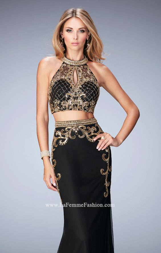 Picture of: Fully Embellished Two Piece Dress with Sheer Back, Style: 22898, Main Picture