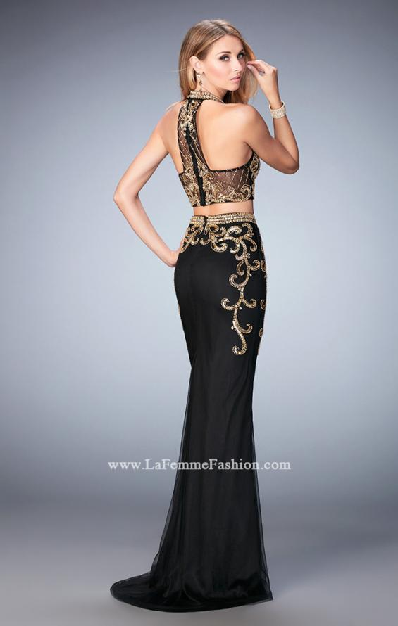 Picture of: Fully Embellished Two Piece Dress with Sheer Back, Style: 22898, Back Picture