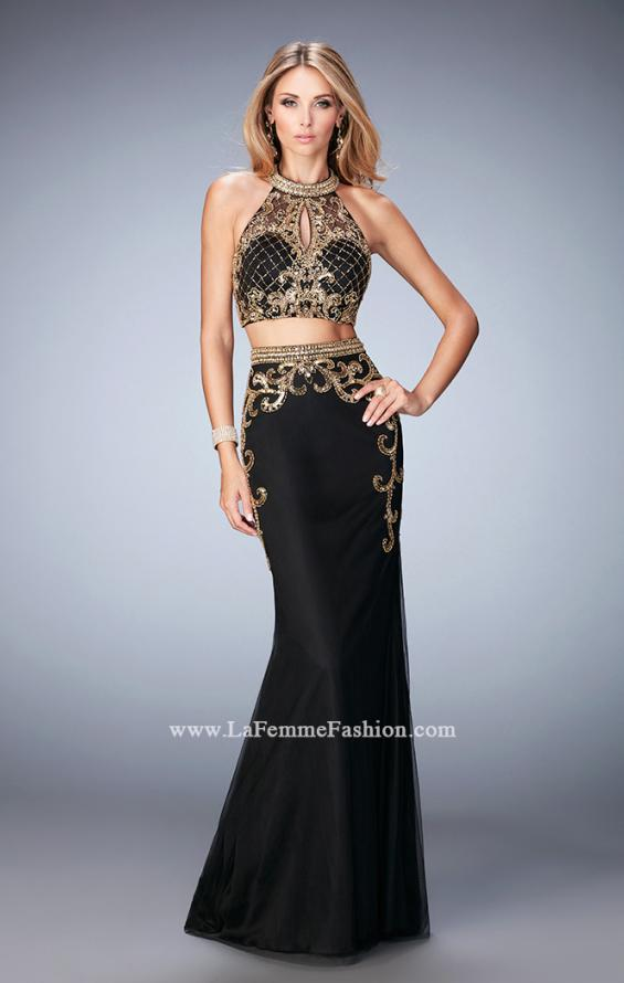 Picture of: Fully Embellished Two Piece Dress with Sheer Back, Style: 22898, Detail Picture 1