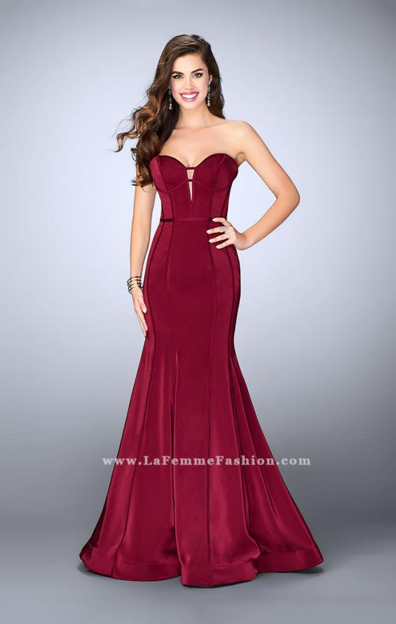 Picture of: Strapless Mermaid Dress with Corset Piping and Deep V, Style: 23227, Main Picture