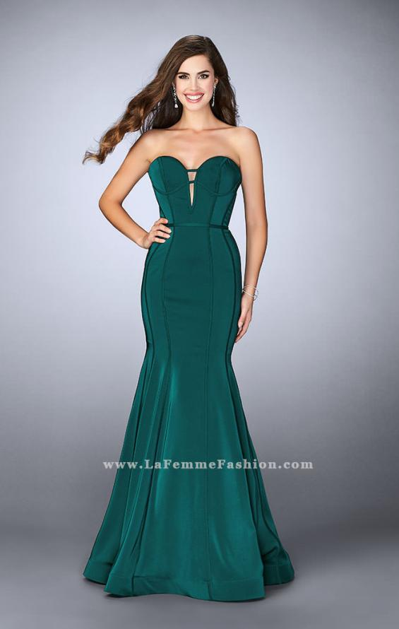 Picture of: Strapless Mermaid Dress with Corset Piping and Deep V, Style: 23227, Detail Picture 1