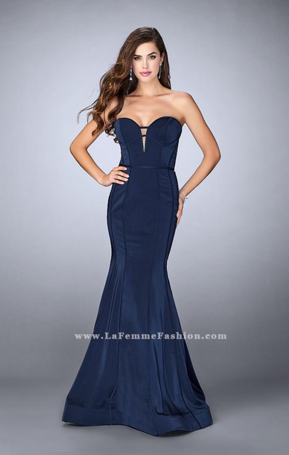 Picture of: Strapless Mermaid Dress with Corset Piping and Deep V, Style: 23227, Detail Picture 2