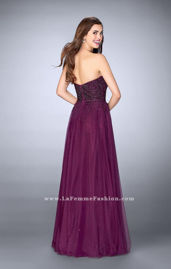 Picture of: Sweetheart Strapless Tulle Dress with a Beaded Bodice, Style: 23228, Back Picture