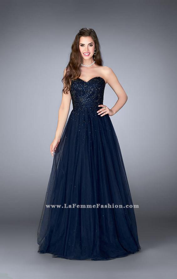 Picture of: Sweetheart Strapless Tulle Dress with a Beaded Bodice, Style: 23228, Detail Picture 1