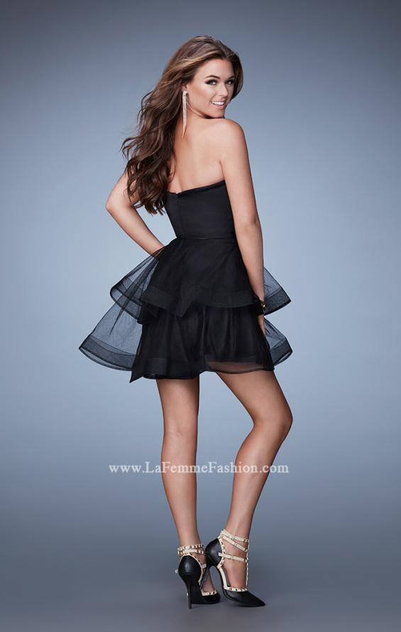Picture of: Short Sweetheart Homecoming Dress with Tiered Skirt, Style: 23398, Back Picture
