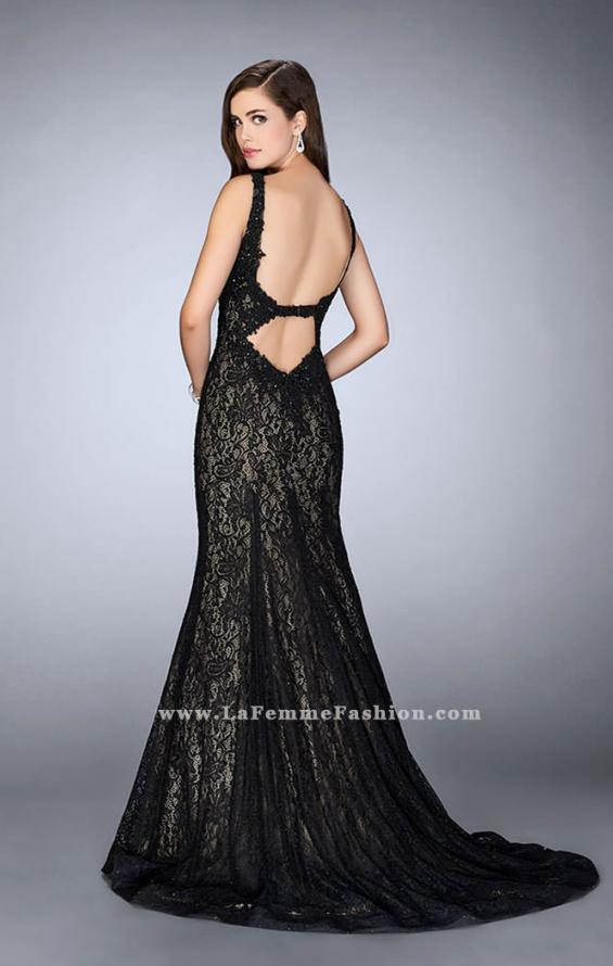 Picture of: Beaded Lace Mermaid Homecoming Dress, Style: 23413, Back Picture
