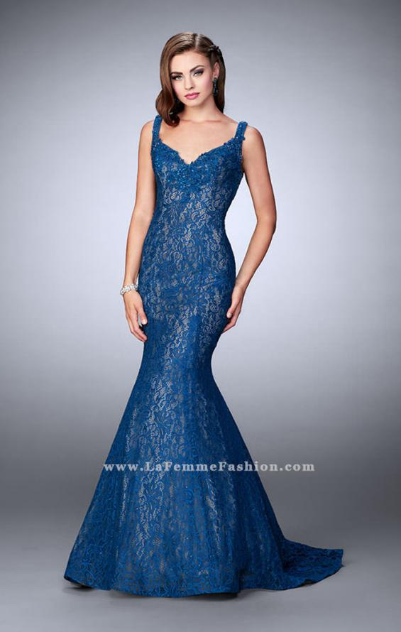 Picture of: Beaded Lace Mermaid Homecoming Dress, Style: 23413, Detail Picture 1