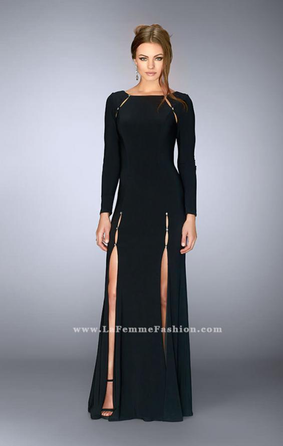 Picture of: Long Sleeve Dress with Rhinestone Shoulders, Style: 23479, Main Picture