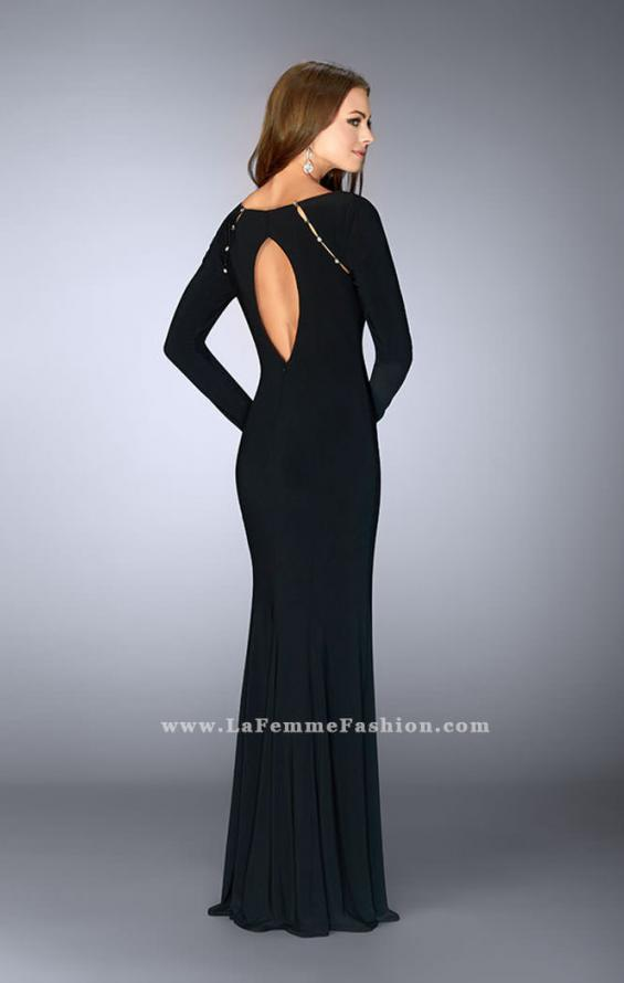 Picture of: Long Sleeve Dress with Rhinestone Shoulders, Style: 23479, Back Picture