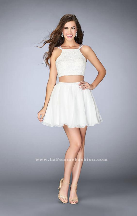 Picture of: Short Lace Two Piece Dress with a Strappy Back, Style: 23531, Detail Picture 1