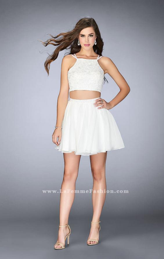 Picture of: Short Lace Two Piece Dress with a Strappy Back, Style: 23531, Detail Picture 2