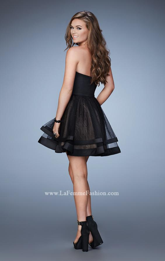 Picture of: Cocktail Dress with Full Tiered Skirt and Rhinestones, Style: 23533, Back Picture