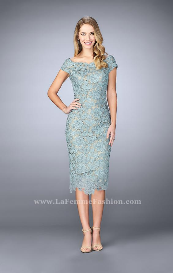Picture of: Knee Length Gown with Scattered Beading, Style: 23552, Detail Picture 1
