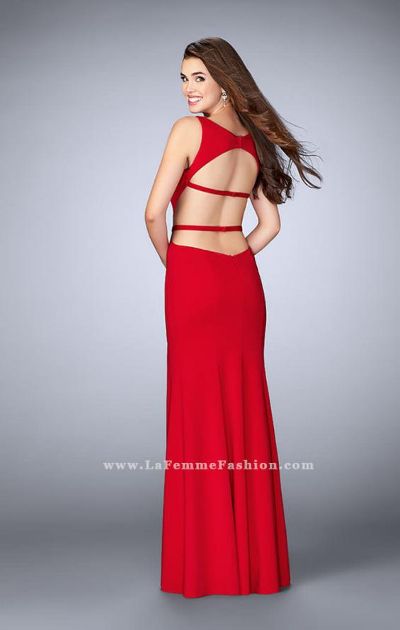 Picture of: Long Strappy Prom Dress with Side Slit in Red, Style: 23631, Back Picture