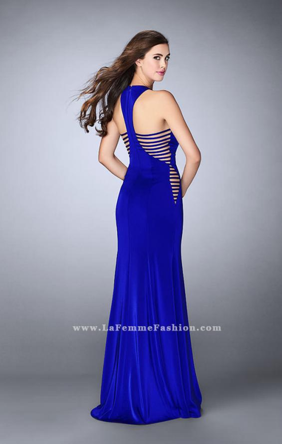 Picture of: Racer Back Jersey Prom Dress with Side Cut Outs, Style: 23665, Back Picture