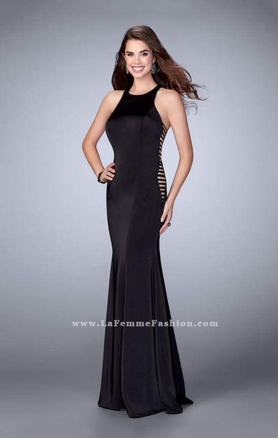 Picture of: Racer Back Jersey Prom Dress with Side Cut Outs, Style: 23665, Detail Picture 2