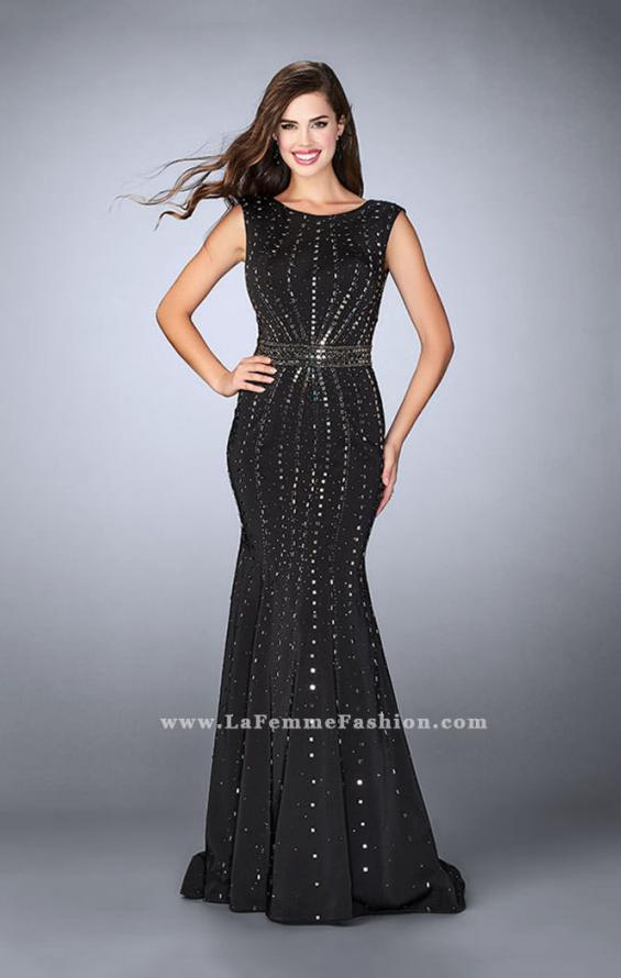 Picture of: High Neck Jersey Prom Dress with Rhinestones, Style: 23680, Main Picture