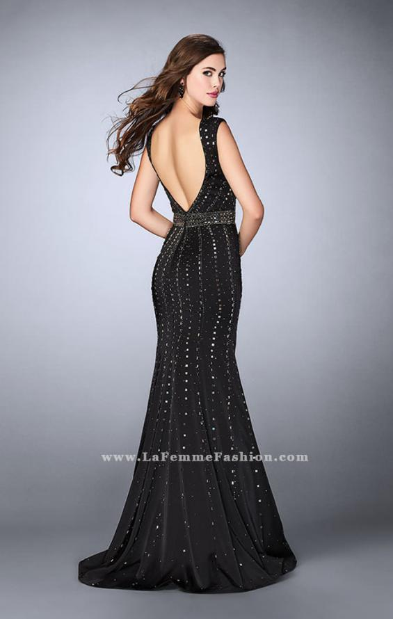 Picture of: High Neck Jersey Prom Dress with Rhinestones, Style: 23680, Back Picture