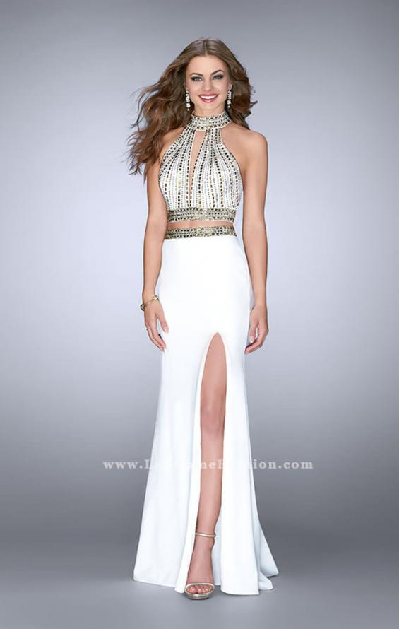 Picture of: Two Piece Prom Dress with High Neck and Beading, Style: 23700, Main Picture