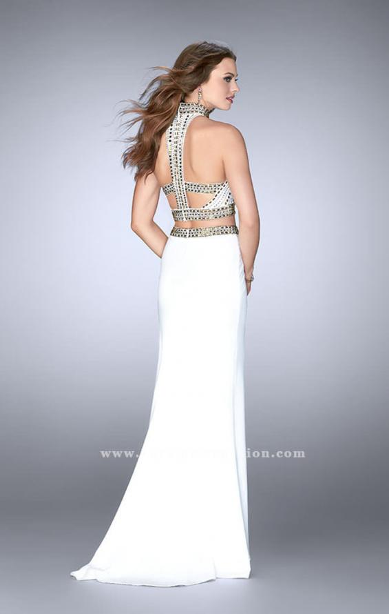 Picture of: Two Piece Prom Dress with High Neck and Beading, Style: 23700, Back Picture
