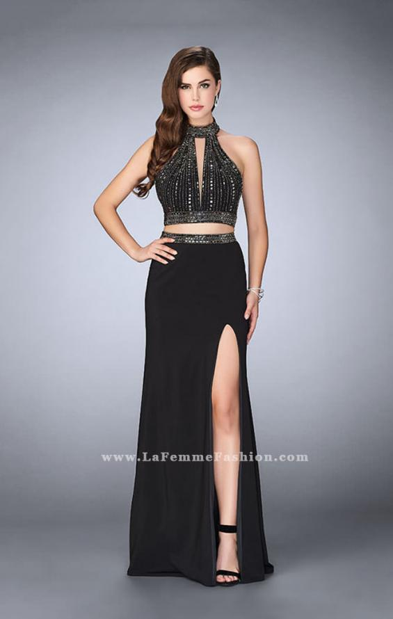 Picture of: Two Piece Prom Dress with High Neck and Beading, Style: 23700, Detail Picture 1
