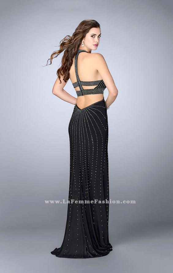 Picture of: Prom Dress with Rhinestones and Racer Back in Black, Style: 23706, Back Picture