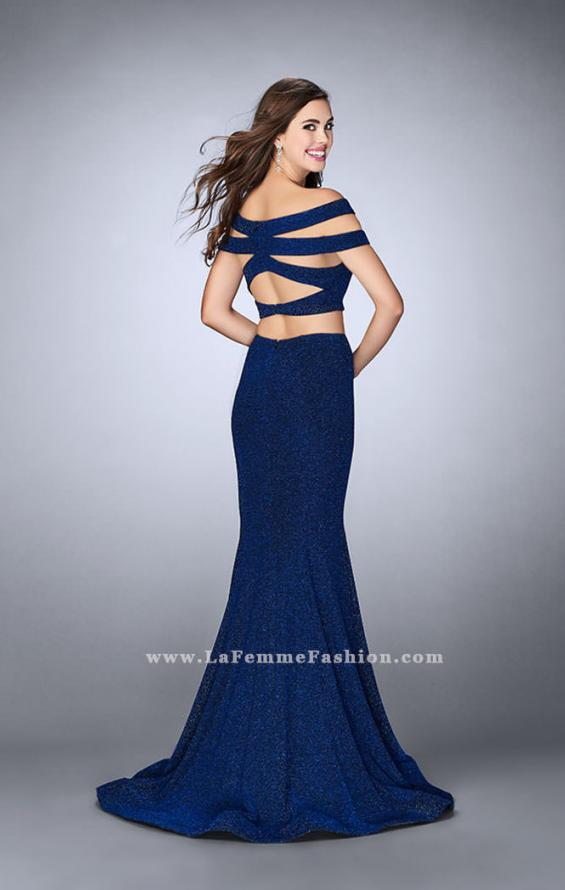 Picture of: Sparkly Two Piece Dress with Off the Shoulder Straps, Style: 23856, Main Picture