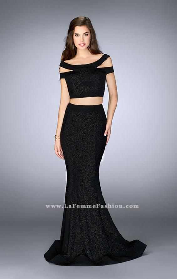 Picture of: Sparkly Two Piece Dress with Off the Shoulder Straps, Style: 23856, Detail Picture 1
