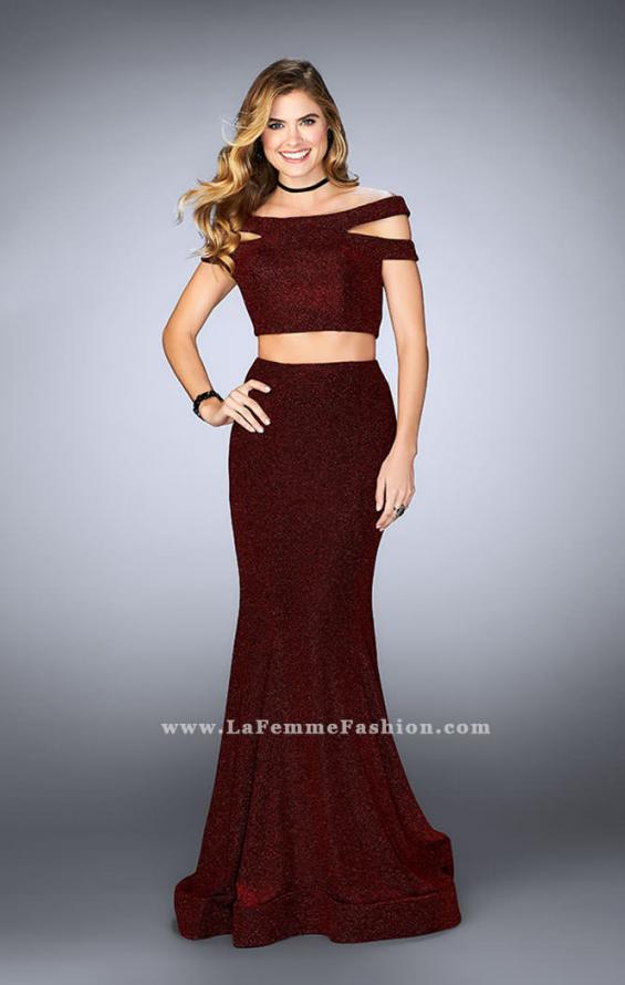 Picture of: Sparkly Two Piece Dress with Off the Shoulder Straps, Style: 23856, Detail Picture 2