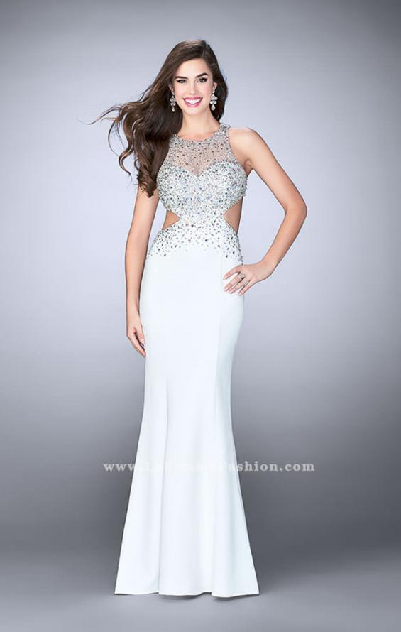 Picture of: Beaded Jersey Dress with Sheer Sweetheart Neckline, Style: 23896, Detail Picture 2