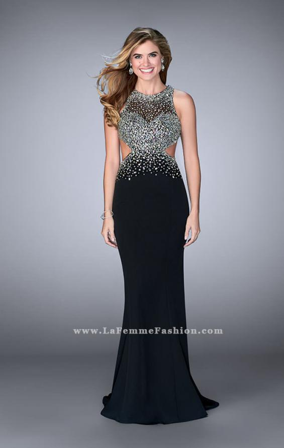 Picture of: Beaded Jersey Dress with Sheer Sweetheart Neckline, Style: 23896, Detail Picture 3