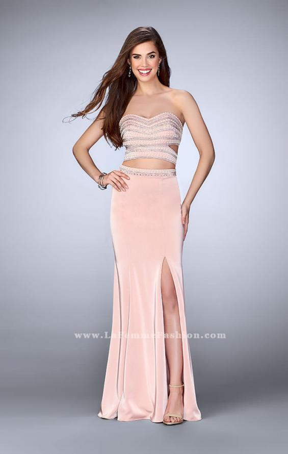 Picture of: Two Piece Prom dress with a Pearls and Stones in Pink, Style: 23899, Main Picture