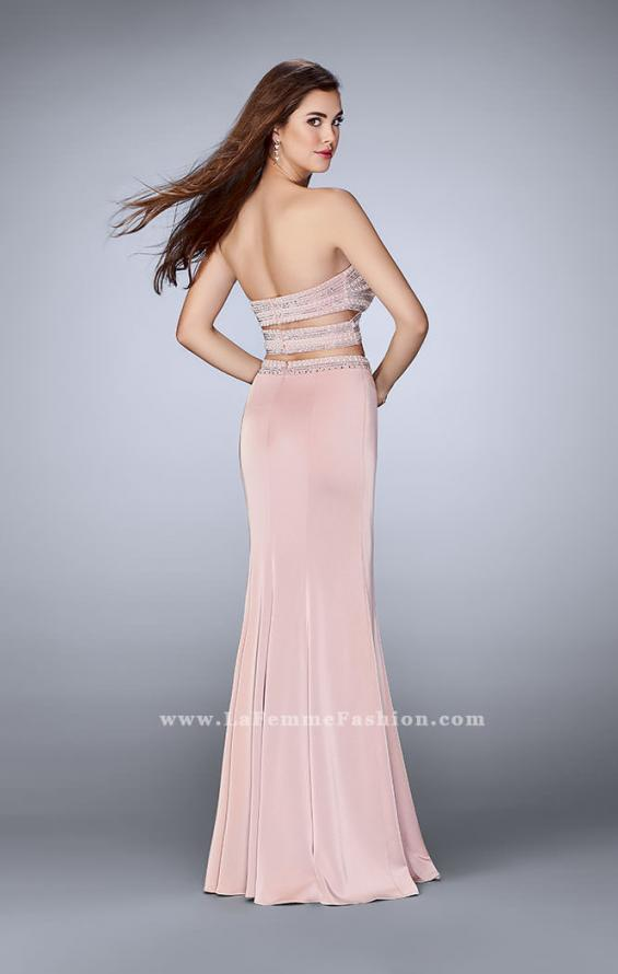 Picture of: Two Piece Prom dress with a Pearls and Stones in Pink, Style: 23899, Back Picture