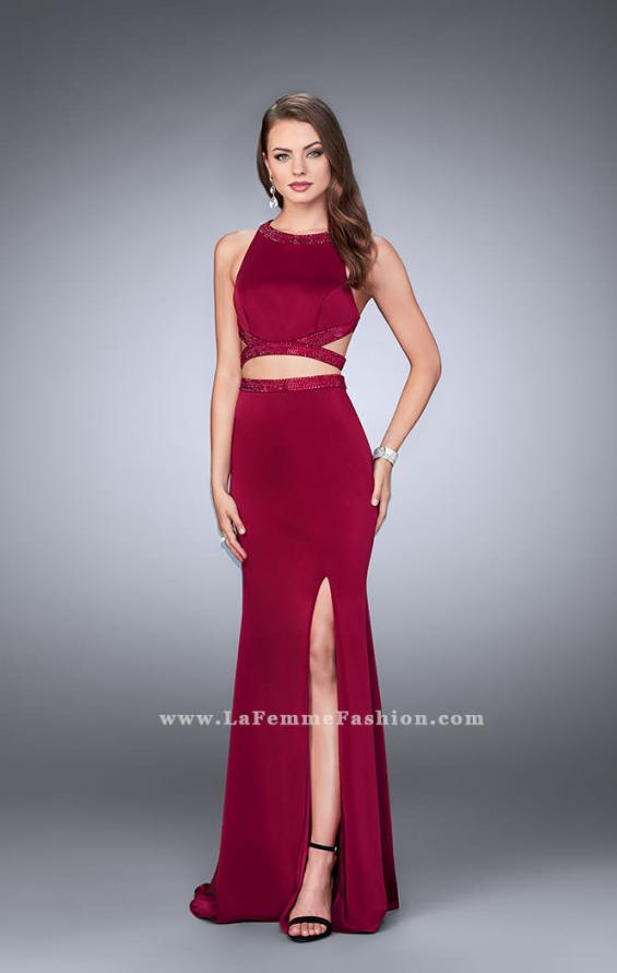 Picture of: Long Two Piece dress with Beading and Side Slit, Style: 23905, Detail Picture 1
