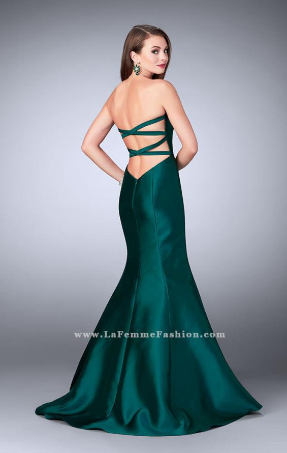 Picture of: Mikado Mermaid Dress with Sweetheart Neckline in Green, Style: 23916, Back Picture