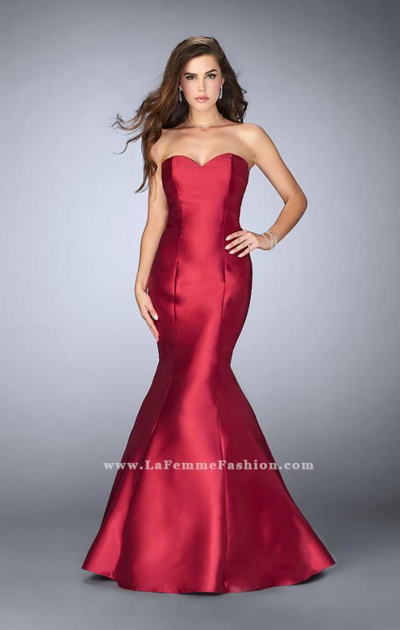 Picture of: Mikado Mermaid Dress with Sweetheart Neckline in Red, Style: 23916, Detail Picture 1